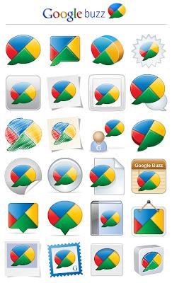 icones, google buzz, redes sociais