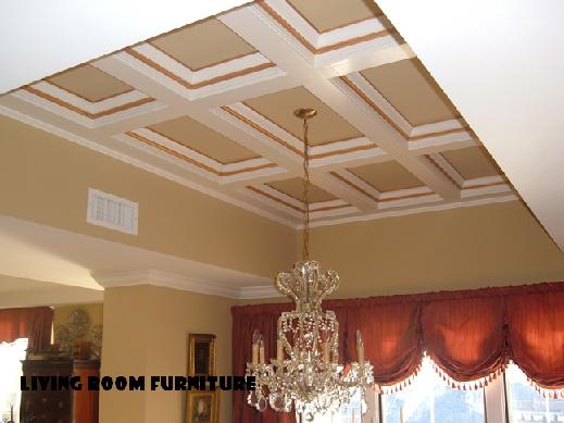 room ceiling design on Living Room Furniture Wood Ceiling Design