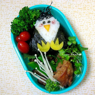 Cute little children's penguin bento box lunch box