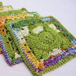 Summer Retro Crochet Coasters