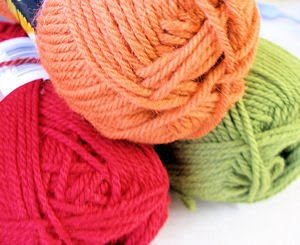 farm fresh colorful wool yarn