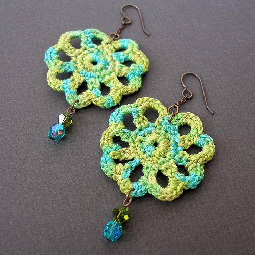 Easy Crochet Earrings Free Pattern Legitefo For