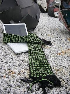 science geek binary scarf knitting pattern