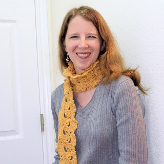 queen anne lace crochet lace scarf