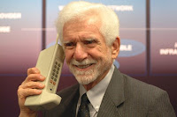 martin cooper holds world hostage with giant novelty phone