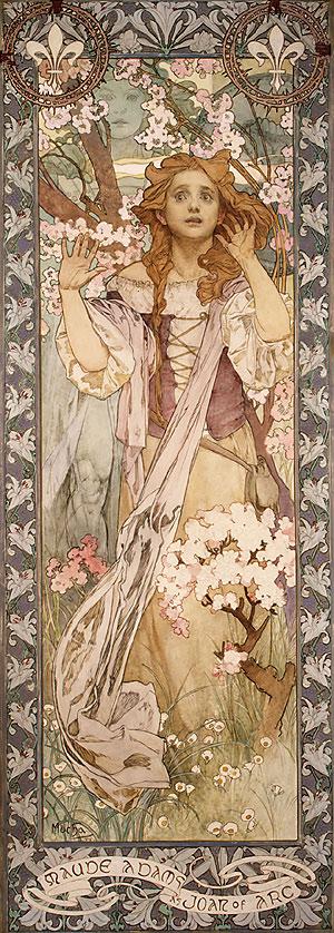 St. Joan in Art Mucha_Alphonse_Maud_Adams_as_Joan_of_Arc