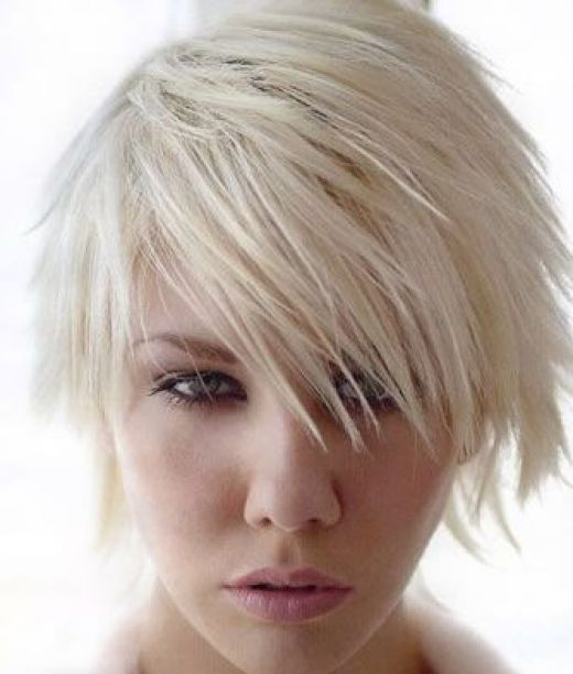 Layered shags are also notable short funky hairstyles; short choppy