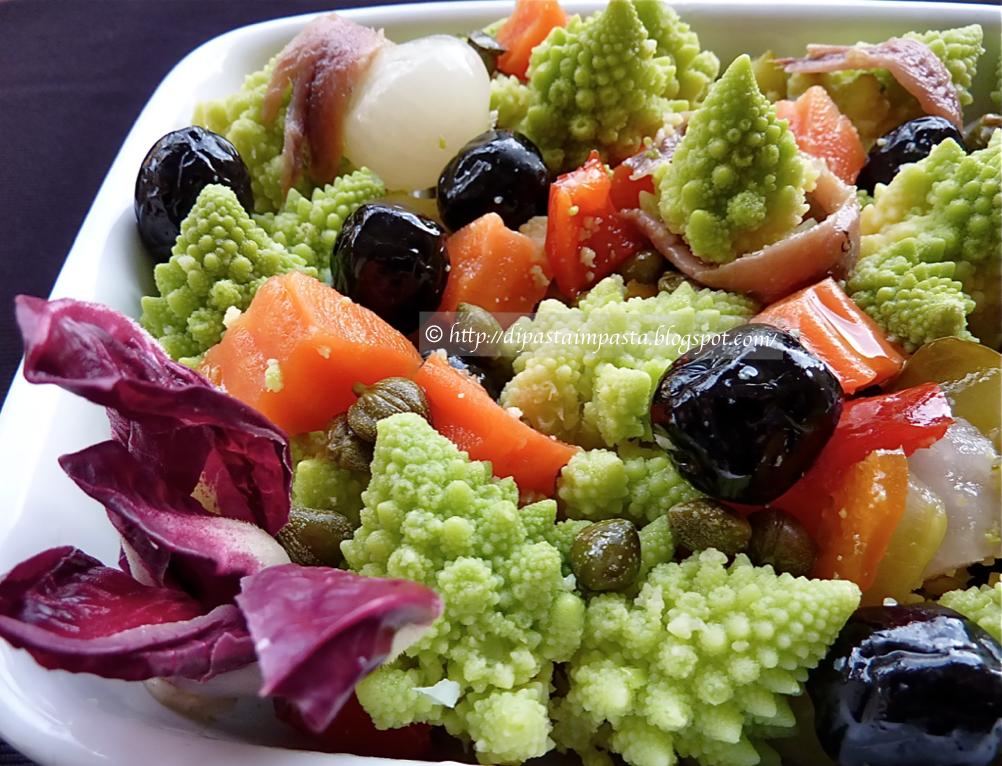 Insalata di rinforzo con il broccolo romano da di pasta for Cibo tipico romano