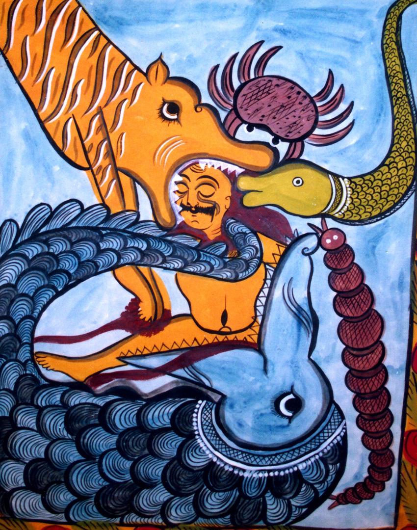 satyapir scroll painting