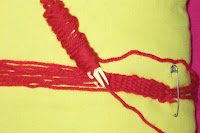 Galon de laine fait main