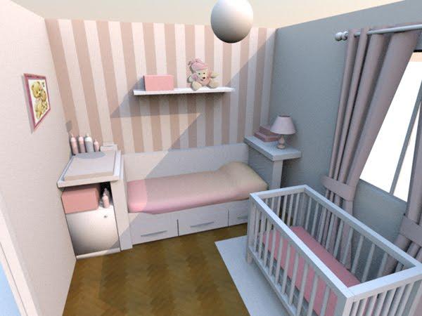 Dise o y decoraci n en 3d de una habitaci n para beb ii - Diseno de una habitacion ...