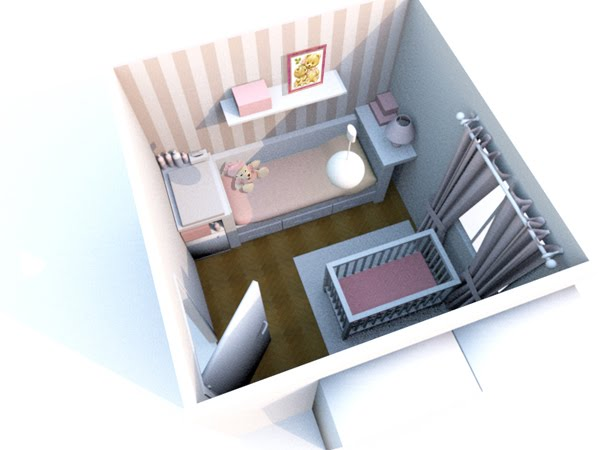 Dise o y decoraci n en 3d de una habitaci n para beb ii for Ikea diseno cocinas 3d
