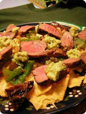 No Kitchen For Old Men: Super Bowl XLV - Beef Fajita Nachos