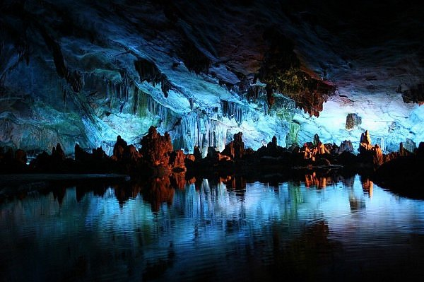Reed Flute Cave in Guilin, China was discovered during the Tang