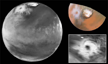 Mars North Pole Cyclone