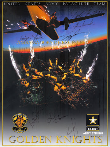 United States Army Parachute Team - Golden Knights Signatures