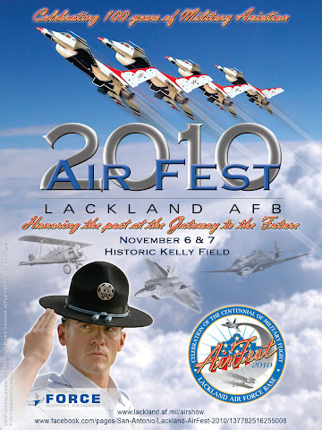 Lackland AFB Air Fest 2010 Official Poster