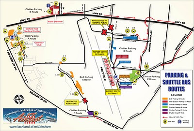 Lackland AFB Air Fest 2010 - Map and Directions