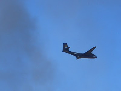 Lackland AFB Air Fest: C-7 Caribou - Flyby in Smoke
