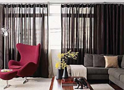 decoração de cortinas para salas pequenas