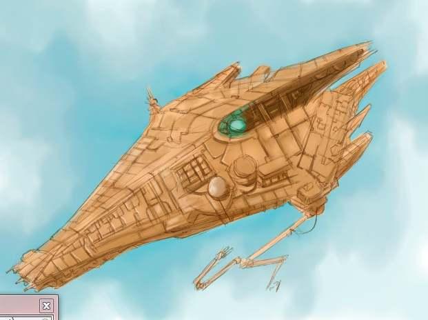 Dibujando naves espaciales el itaca y la puerta de for Puerta nave espacial