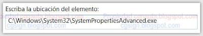 Crear acceso directo a Propiedades de Sistema en Windows 7