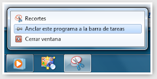 Anclar y Desanclar programas a la barra de Windows 7
