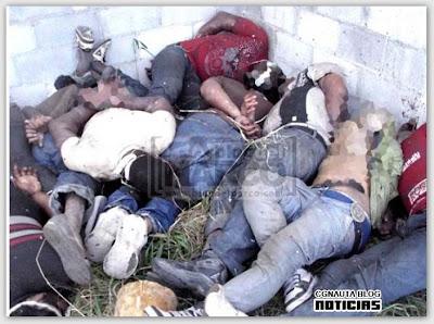 Foto del grupo de inmigrantes fusilados por los desgraciados