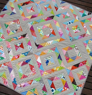 Half-square triangles - Fort Collins Quilting | Examiner.com