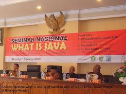 """Seminar Nasional """"What Is Jawa"""""""