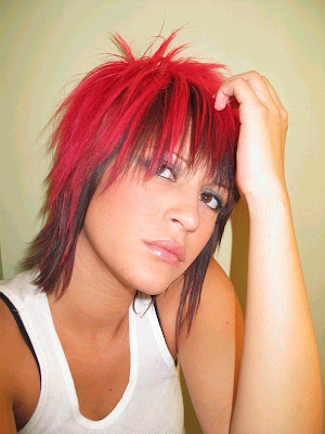 Style color emo haircuts for sexy girl