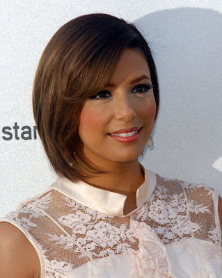 Angled Celebrity bob hairstyles for black women