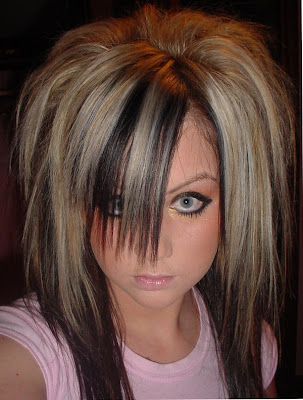 Black scene hairstyle for girls. If your hair is blonde
