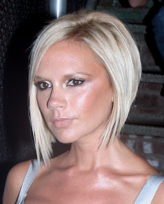 Victoria Beckham's sleek short bob hairstyle. Victoria Beckham Short Haircut