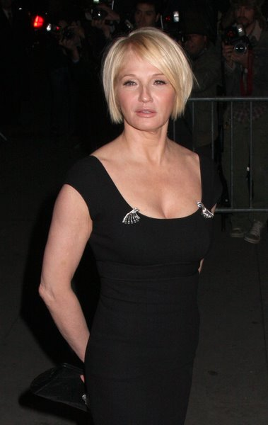 Medium Short Trendy Hairstyles for Fall Ellen Barkin bob hairstyle