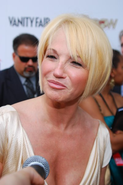 Medium Short Trendy Hairstyles for Fall Ellen Barkin short bob