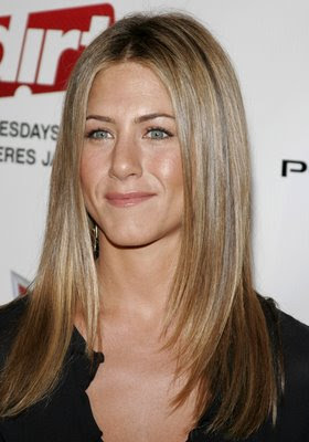 Celebrity Hairstyles, jennifer Aniston Hairstyles, Long Hair, Blonde Hair, Straight Hair,