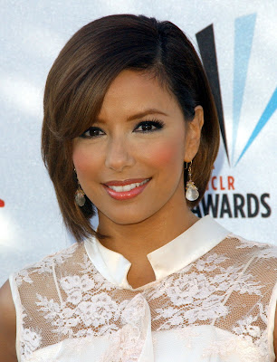 Eva Longoria Bob Hairstyles with short bangs