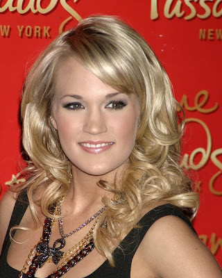 Carrie Underwood Side Hairstyle. Carrie Underwood#39;s Long Wavy