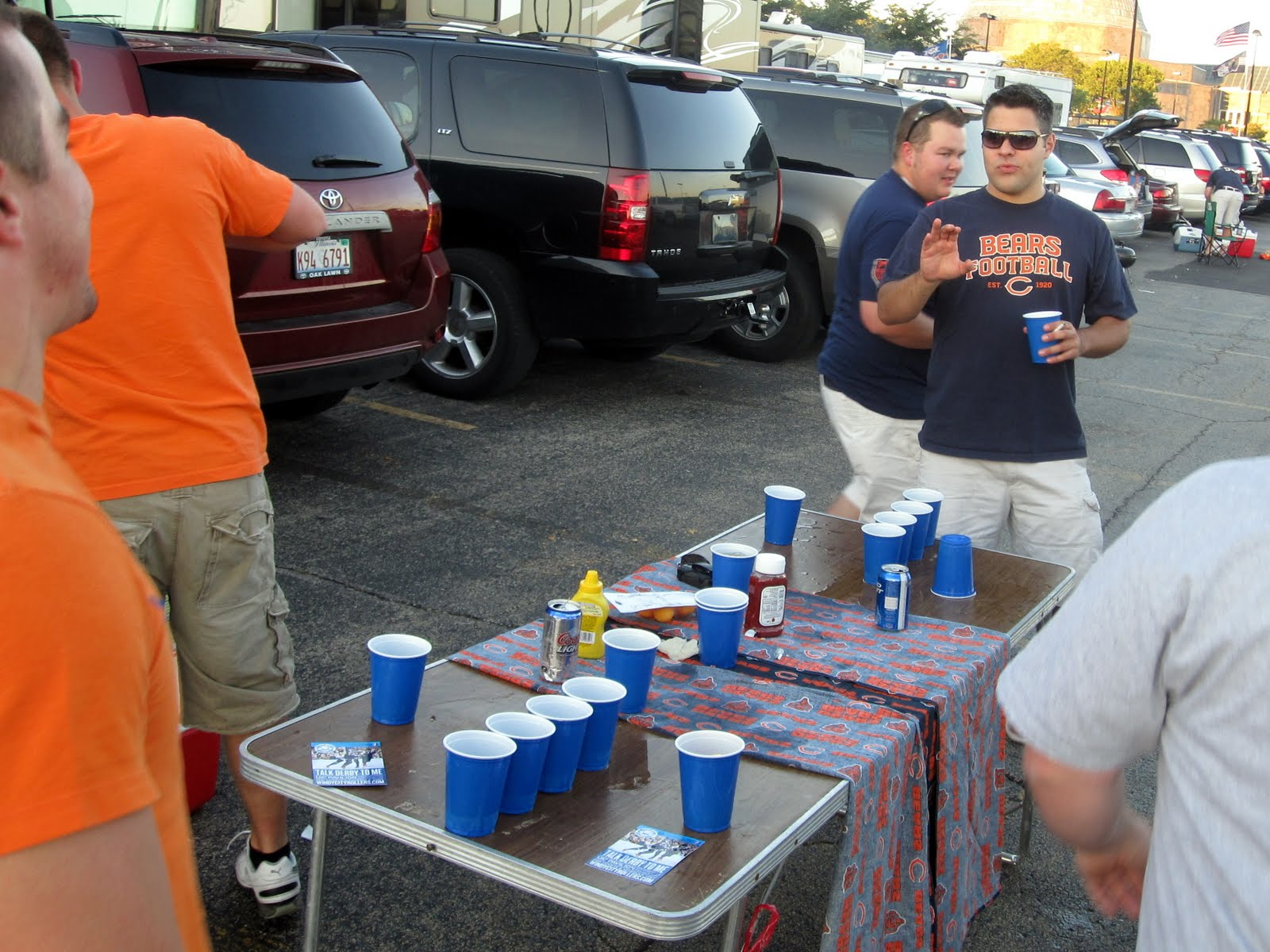 guy playing drunken flip cup