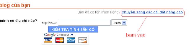 Hướng dẫn cài đặt tên miền Co.cc cho Blogspot