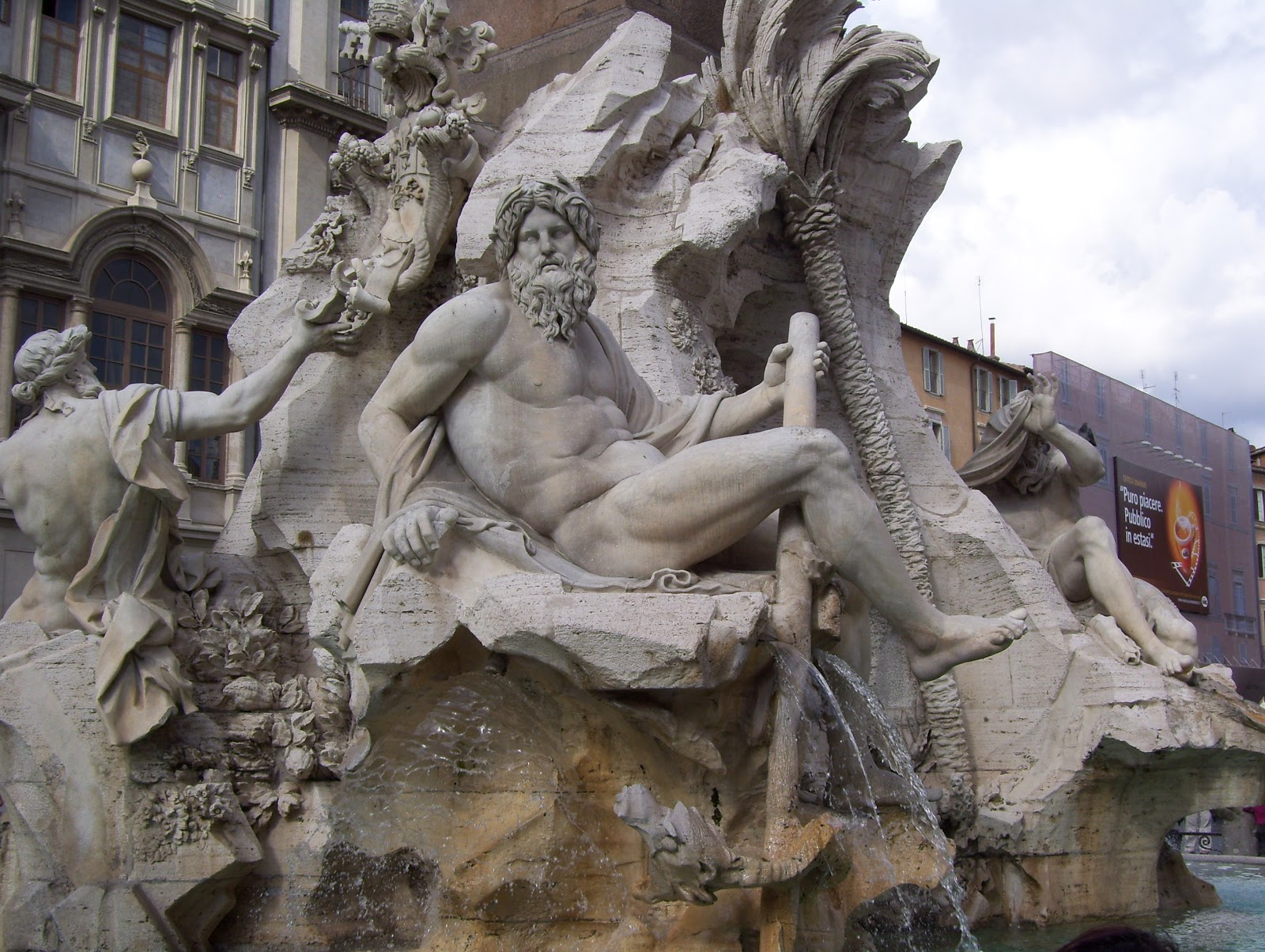 fountain of the four rivers Fontana dei quattro fiumi (fountain of the four rivers) is a fountain in the piazza navona in rome, italy it was designed in 1651 by gian lorenzo bernini for pope.