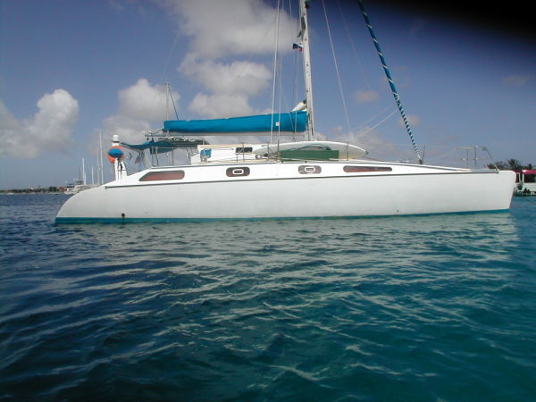 Currently listed catamaran for sale soon to arrive St Augustine Florida USA.
