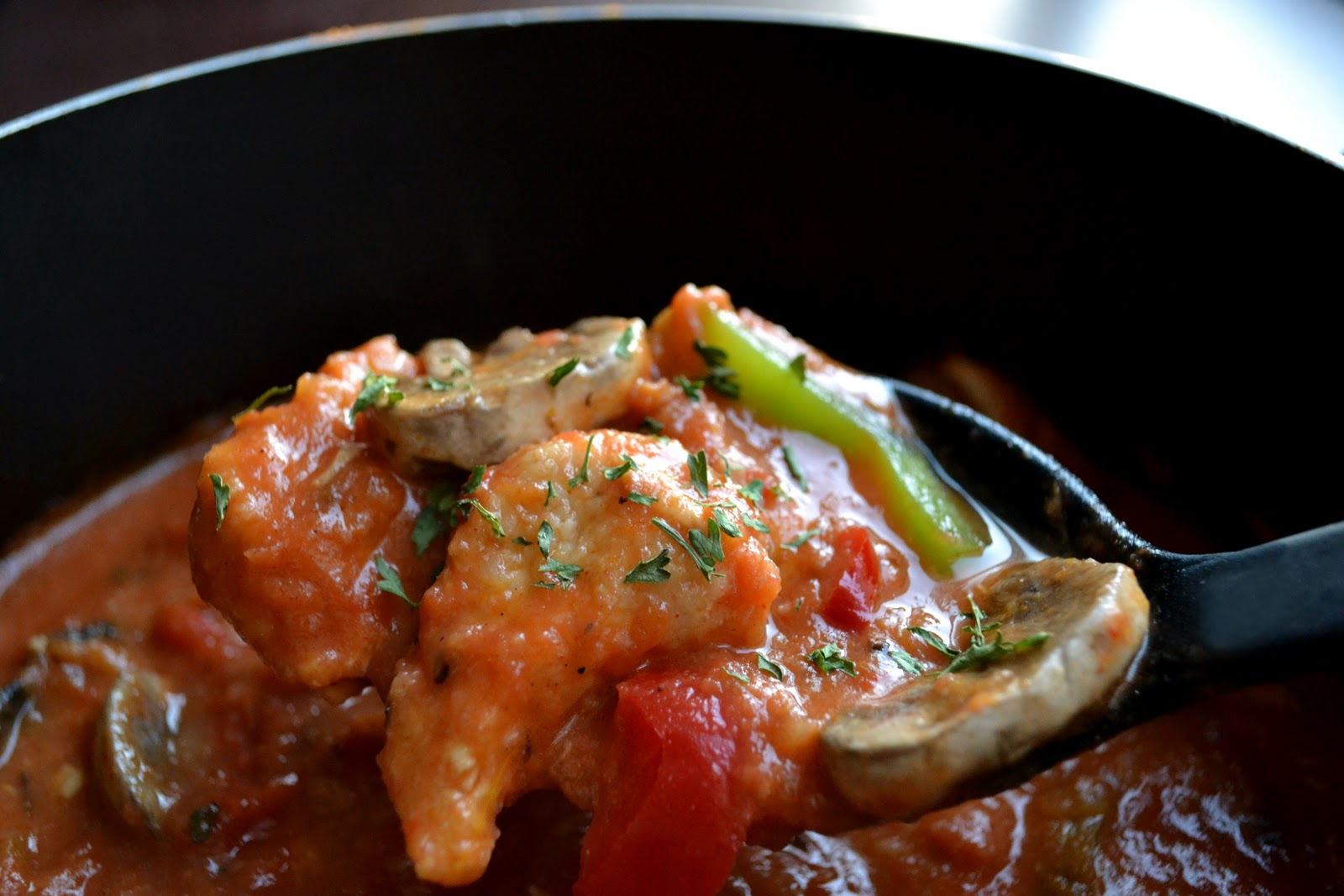 Lawyer Loves Lunch: Comforting Chicken Cacciatore