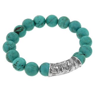 truquoise and silver bracelet