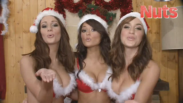Rosie Jones Holly Peers India Reynolds Topless Big Boobs Naked Tits Merry Sexy Christmas