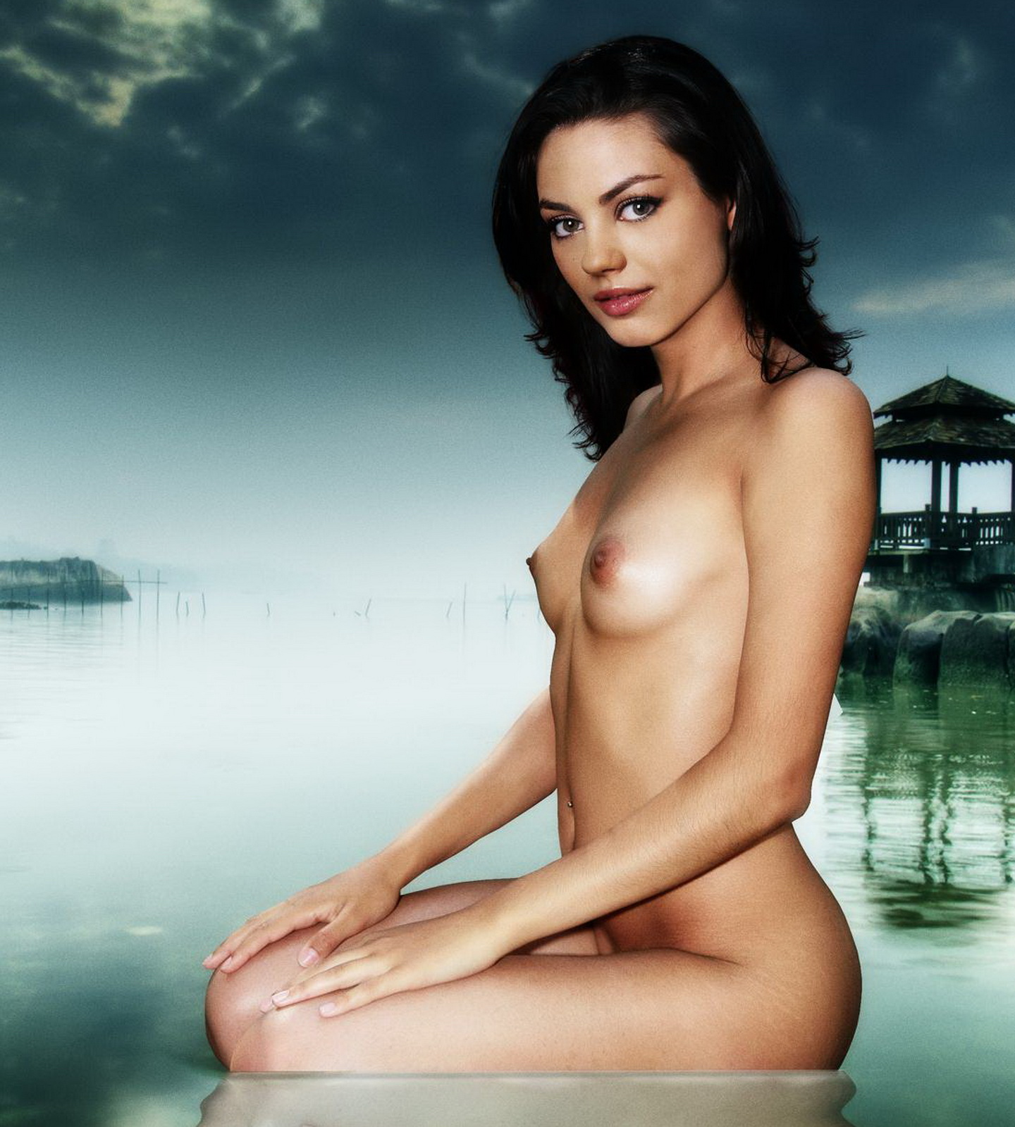 Mila Kunis Nude Naked Topless Art