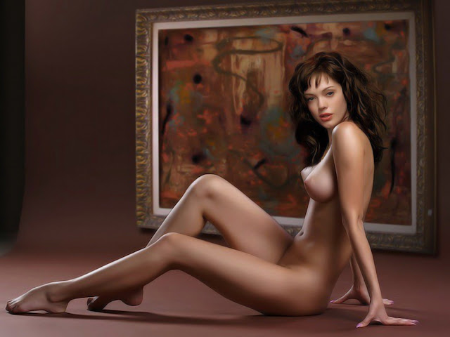 Rose McGowan nude art