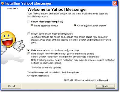 yahoo messenger install