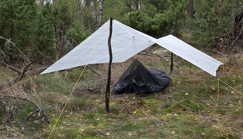 how to make a tent out of tarpaulin